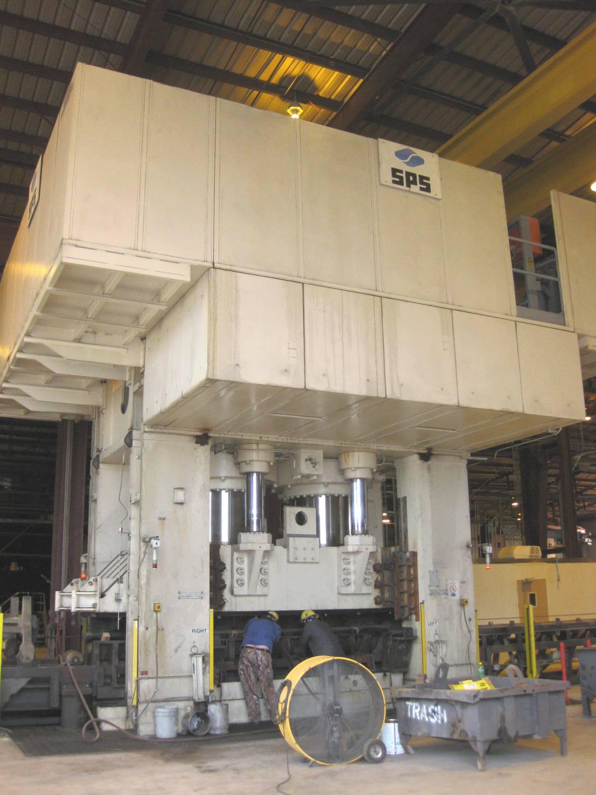 7860 Ton Siempelkamp Downacting Hydraulic Press Model
