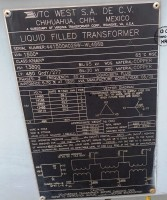 UNUSED VTC Substation Oil Filled Transformers  1500 KVA