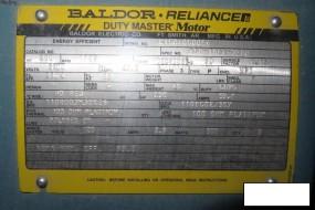 Baldor Motor, 200 Hp, 1189 RPM, 10EC5006Y Frame, S/n K156050056